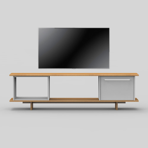 Blank TV Stand / Cloud Gray