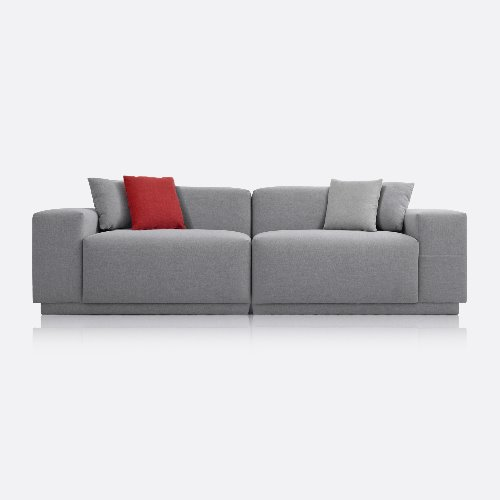 M5 Fabric Sofa 3 Seated / Chic Gray