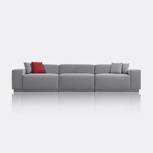 M5 Fabric Sofa 5 Seated / Chic Gray