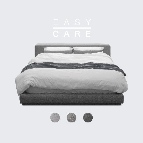 M5-Fabric Bed_EASY CARE / 3 Color