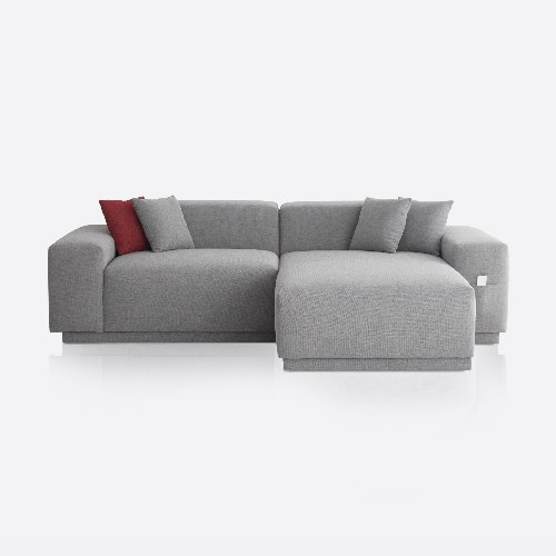 M5 Fabric Sofa Couch 3 seated / Chic Gray