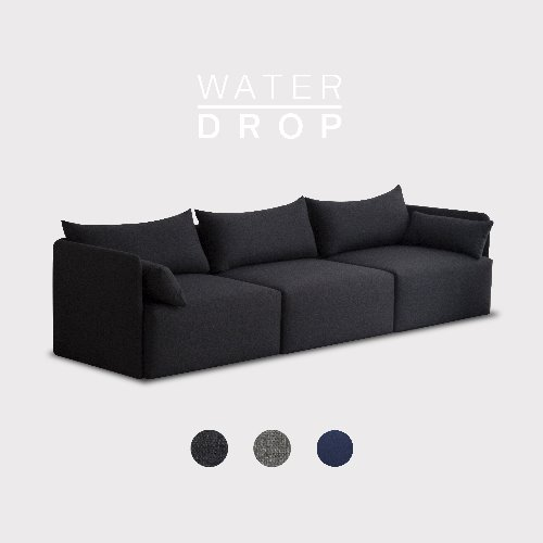 [PRE-ORDER] Fond Sofa 5 seated / WATER-DROP 3 Color
