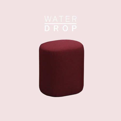 Track Sofa Stool / WATER DROP Cherry Red