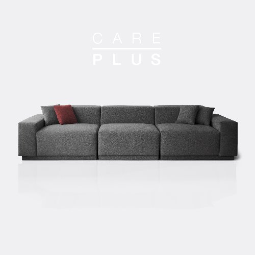 M5 Fabric Sofa_CARE-PLUS Cloudy Gray / 5 seated