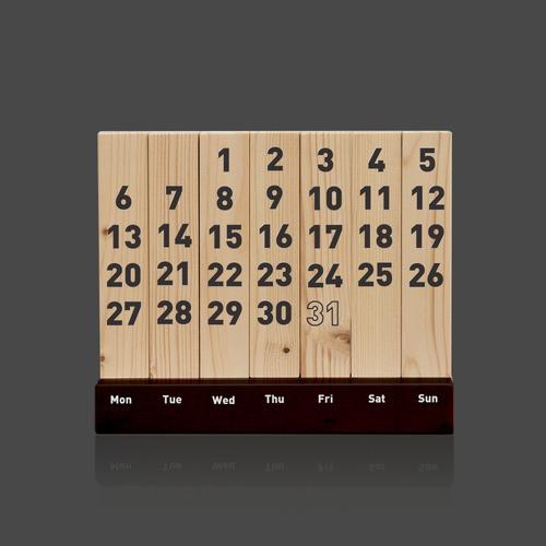 Wood Calendar / Black