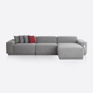 M5 Fabric Sofa Couch_Chic Gray / 5 seated